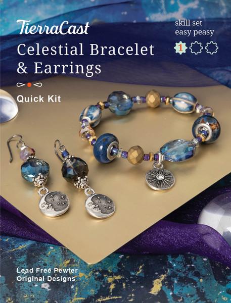 TierraCast Celestial Bracelet & Earrings Kit (Beginner)