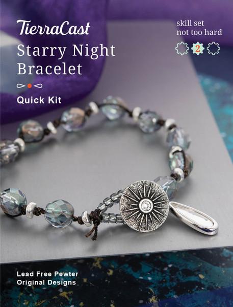 TierraCast Starry Night Bracelet, Knotting (Beginner+)