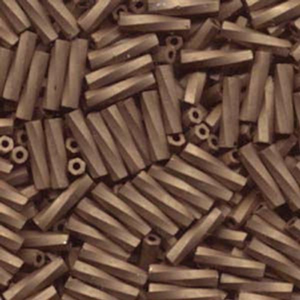 2.7 x 12mm Twisted Bugles, Matte Metallic Dark Bronze  (10 gr.)