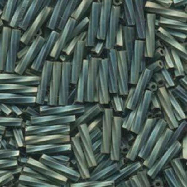 2.7 x 12mm Twisted Bugles, Matte Metallic Patina Iris (10 gr.)