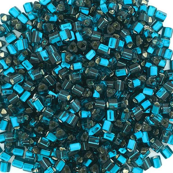 11-TRI-0027BD, Silver-Lined Blue Zircon Triangles (28 gr.)