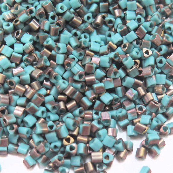 11-TRI-Y0857F, Frosted Turquoise Apollo Triangles (28 gr.)