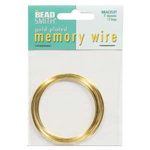"Memory Wire - Round Bracelet - 2"" (Small) - Gold (12 loops)"