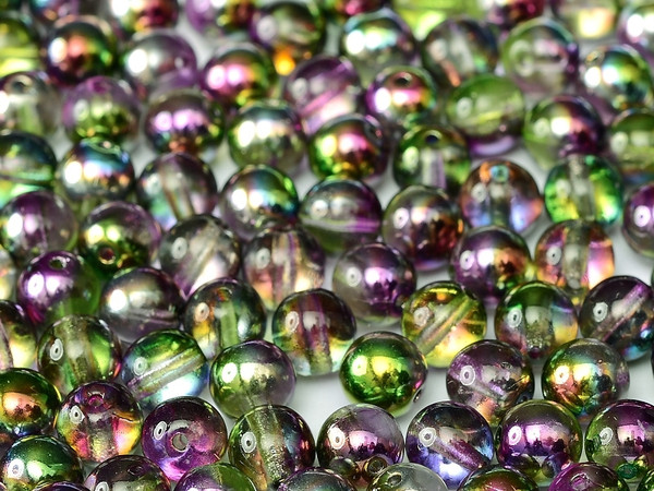 3mm Round Glass Beads, Magic Orchid (Qty: 50)