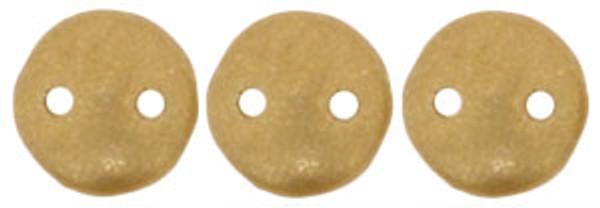 2-Hole Lentils, Matte Metallic Flax (Qty: 50)