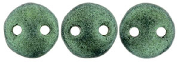 2-Hole Lentils, Light Green Metallic Suede (Qty: 50)