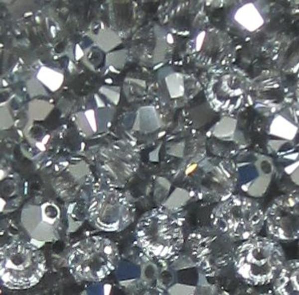 3mm Swarovski Bicones, Crystal Comet Argent Light (Qty: 50)