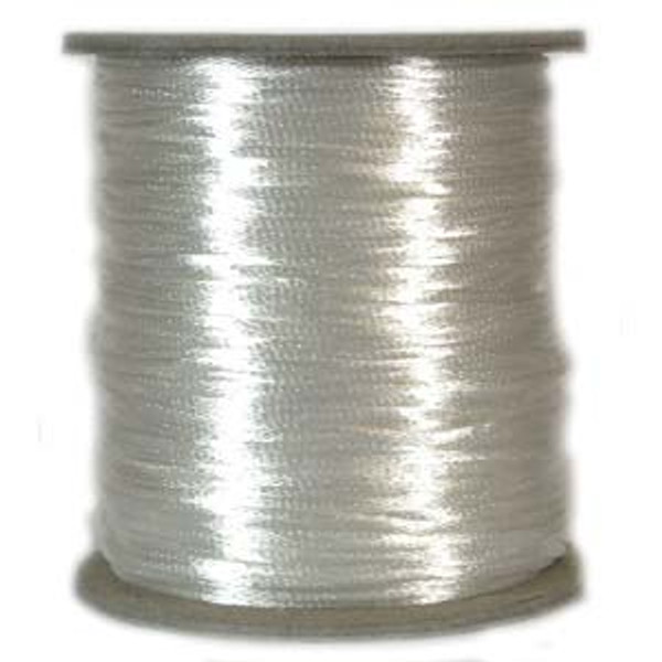 2mm Satin Cord (Rattail), White (6 yds.)