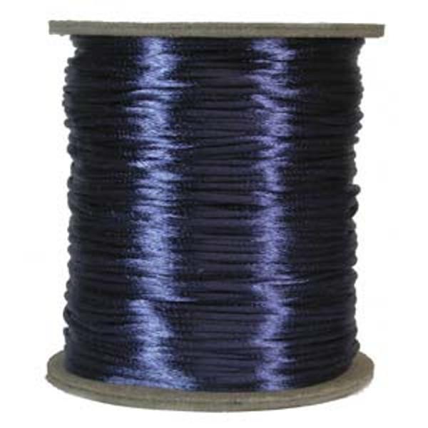 2mm Satin Cord (Rattail), Royal Blue (6 yds.)