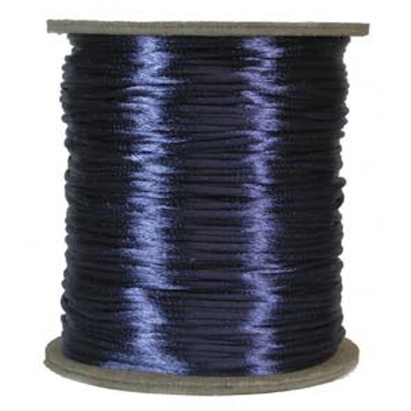 2mm Satin Cord (Rattail), Royal Blue (6 yds.)