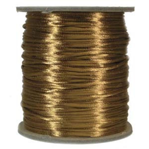 2mm Satin Cord (Rattail), Camel (6 yds.)