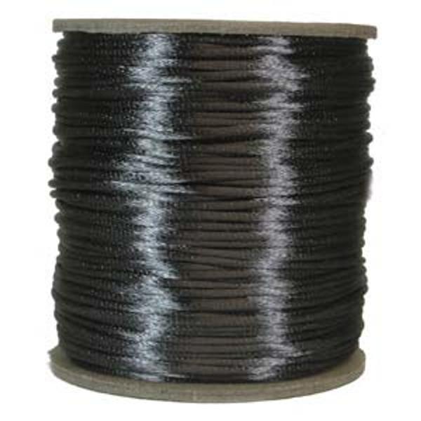 2mm Satin Cord (Rattail), Dark Grey (6 yds.)
