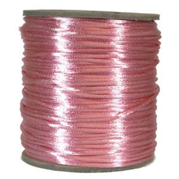 2mm Satin Cord (Rattail), Light Pink (6 yds.)
