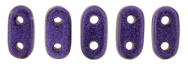 2-Hole Bar Beads, Purple Metallic Suede (10 gr.)