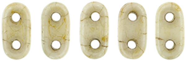 2-Hole Bar Beads, Opaque Luster Picasso (10 gr.)