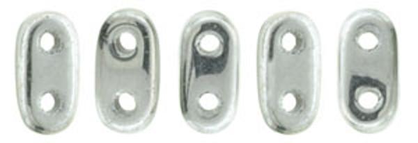 2-Hole Bar Beads, Silver (10 gr.)