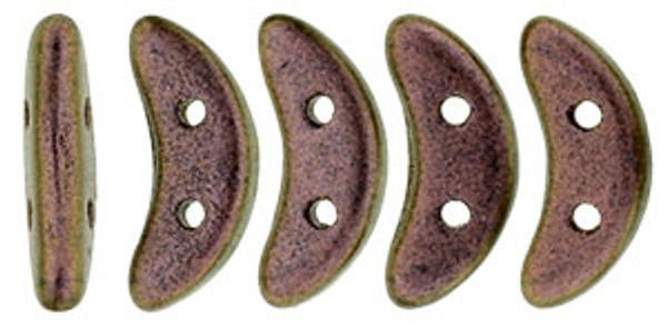 Crescent Beads, Copper Rose (10 gr.)