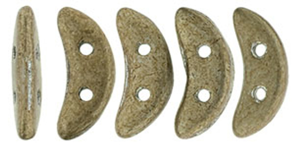 Crescent Beads, Metallic Khaki (10 gr.)