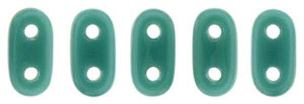 2-Hole Bar Beads, Persian Turquoise (10 gr.)