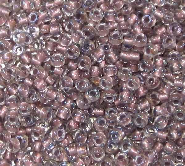 8-0377G, Metallic Rose-Lined Crystal (Toho 267) (28 gr.)