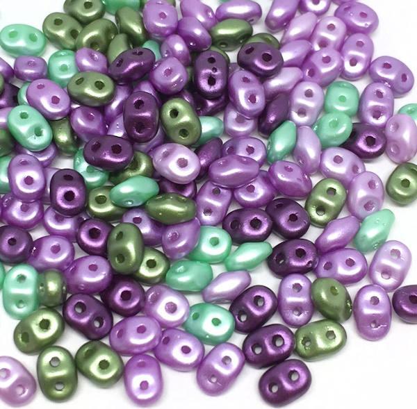 SuperDuos, Spring Violets Mix (10 gr.)