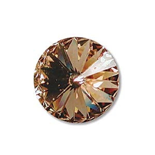 12mm Swarovski Rivoli, Light Colorado Topaz (Qty: 1)