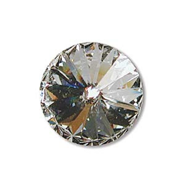 12mm Swarovski Rivoli, Crystal (Qty: 1)