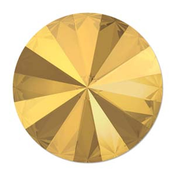12mm Swarovski Rivoli, Crystal Metallic Sunshine (Qty: 1)