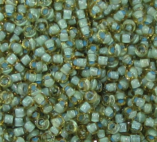 11-0374G, Seafoam-Lined Topaz (Matsuno) (28 gr.)