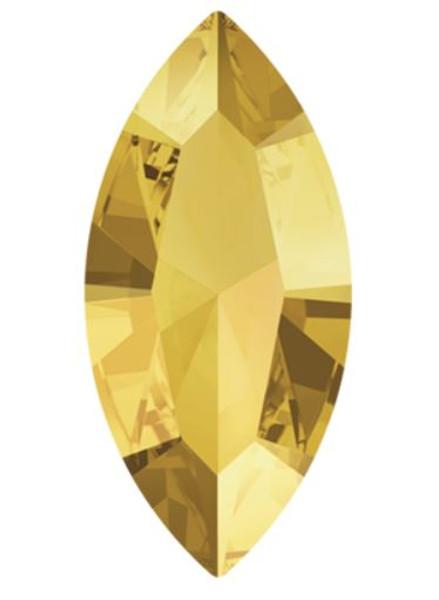 15 x 7mm Swarovski Navette, Crystal Metallic Sunshine (Qty: 1)
