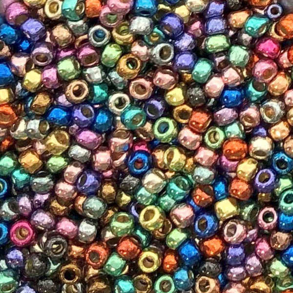 8-P-HAPPY, PermaFinish Happy Metallic Multicolor (Toho) (28 gr.)