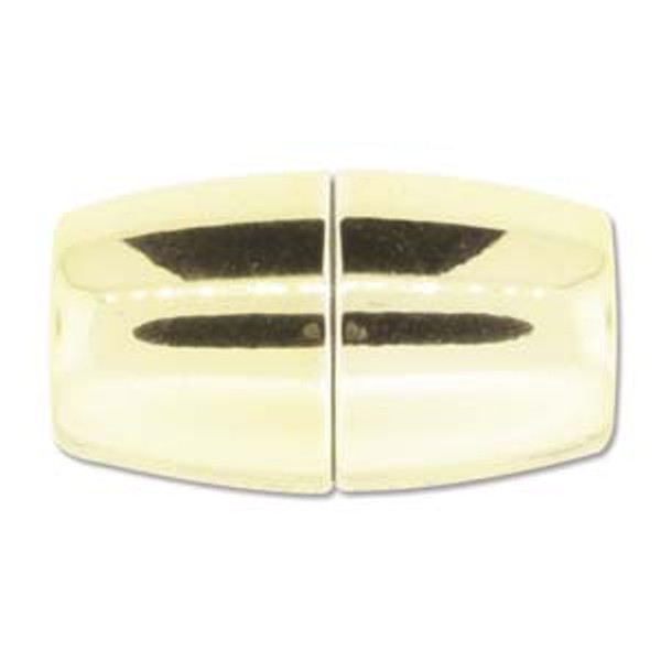 Acrylic Magnetic Clasp 41x24mm with 15.5mm ID - Shiny Gold