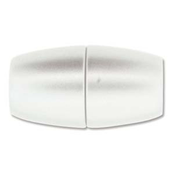 Acrylic Magnetic Clasp 31x17mm with 10.75mm ID - Matte Chrome (Qty: 1)