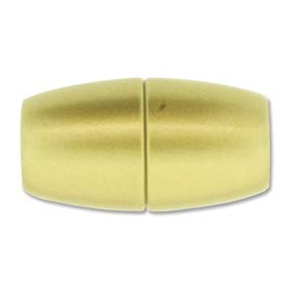 Acrylic Magnetic Clasp 31x17mm with 10.75mm ID - Matte Gold