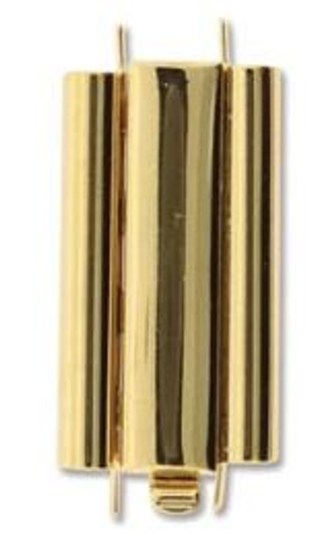 Elegant Elements BeadSlide Clasp, Smooth, Gold Plated, 24mm (Qty: 1)