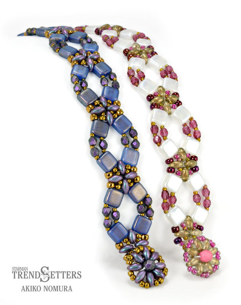 FREE Pattern with $15 Minimum Purchase: Flower Lattice Bracelet (supplies listed in description)