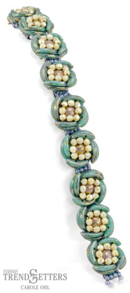 FREE Pattern with $15 Minimum Purchase: Luna Rosa Bracelet (supplies listed in description)
