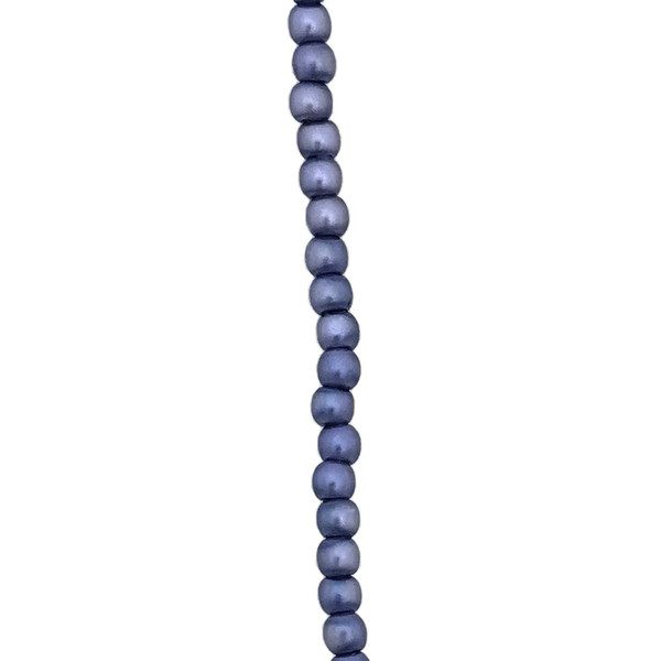 2mm Czech Glass Pearls, Blue/Grey (Qty: 50)