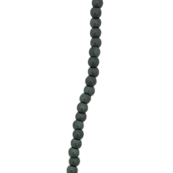 3mm Czech Glass Pearls, Forest Green (Qty: 50)