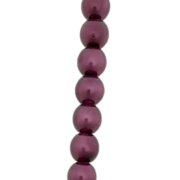 4mm Czech Glass Pearls, Burgundy (Qty: 50)