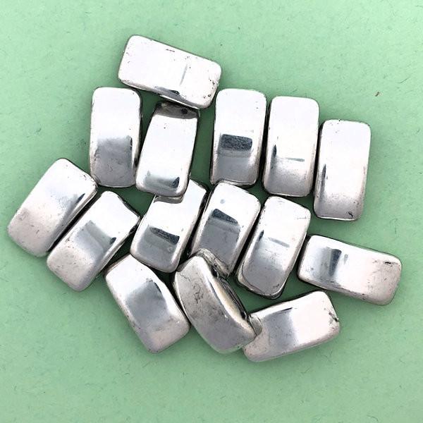 Carrier Beads, Czech Glass, 2-hole, Crystal Labrador (Qty. 15)