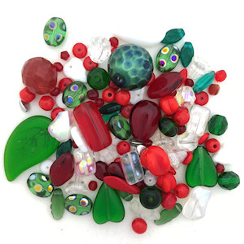 Glass Bead Mix, Merry Christmas (60 gr.)