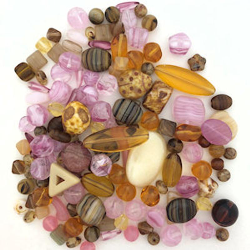 Czech Glass Bead Mix - Desert Bloom (60 gr.)