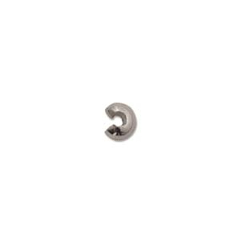 Crimp Bead Cover,  Silver Plated, 3mm (Qty: 20)