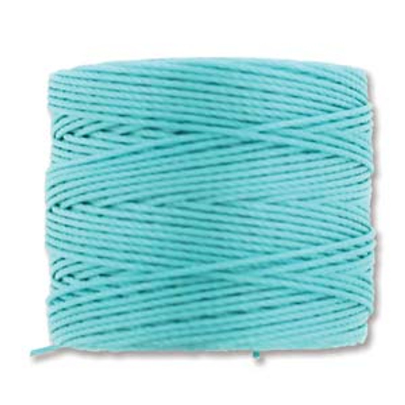 S-Lon Bead Cord, Aqua (TEX 210 Medium Weight) (77 yd)