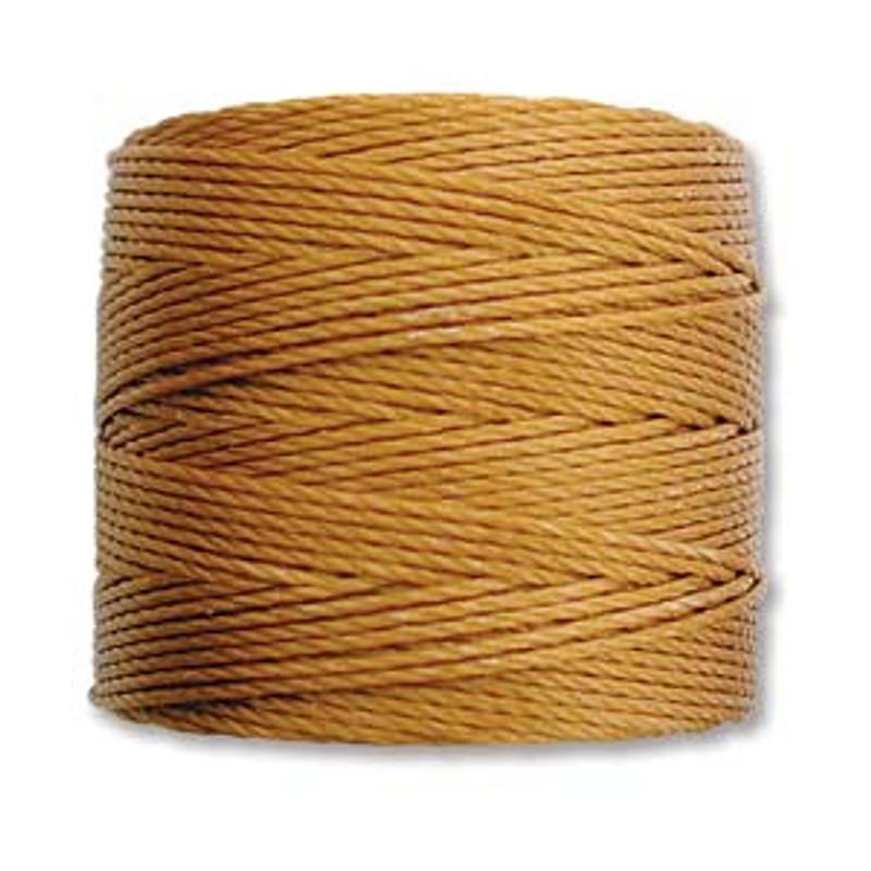 S-Lon Bead Cord, Gold (TEX 210, Medium Weight) (77 yd)