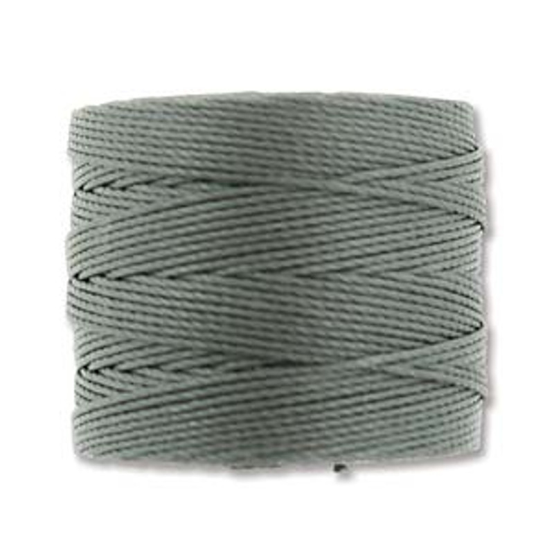 S-Lon Bead Cord, Gunmetal (TEX 210, Medium Weight) (77 yd)