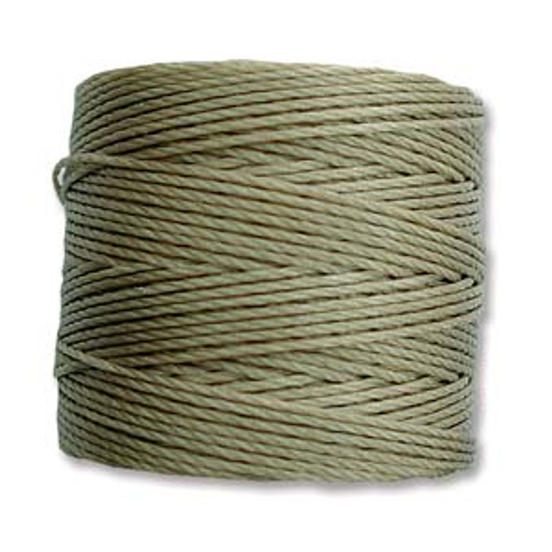 S-Lon Bead Cord, Khaki (TEX 210, Medium Weight) (77 yd)