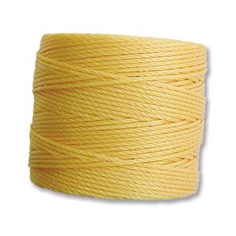 S-Lon Bead Cord, Light Gold (TEX 210, Medium Weight) (77 yd)