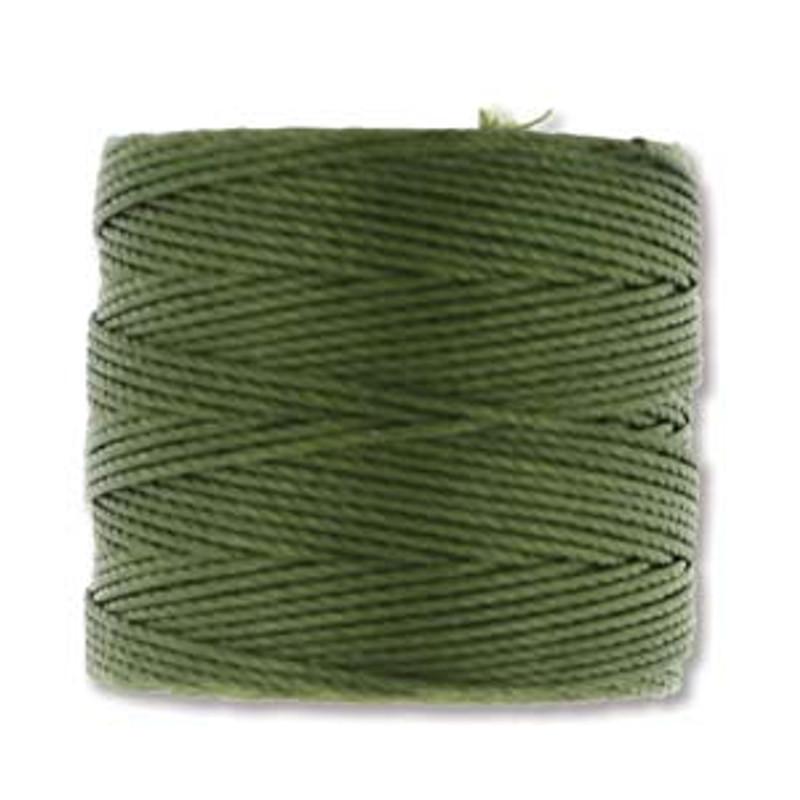 S-Lon Bead Cord, Olivine (TEX 210, Medium Weight) (77 yd)